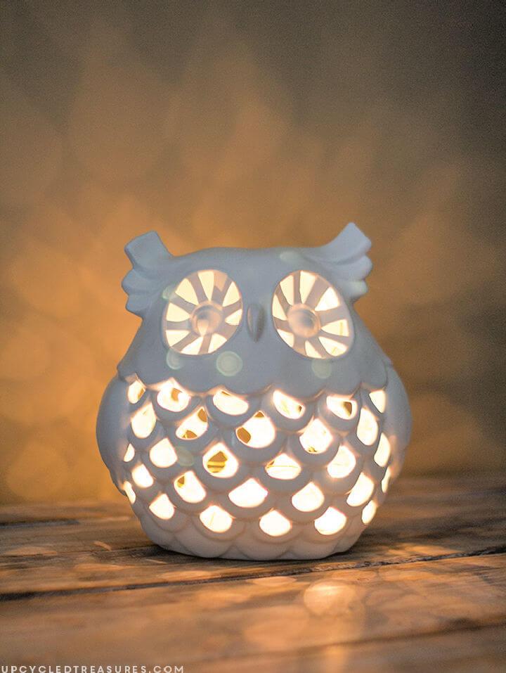 Upcycled Owl Nightlight