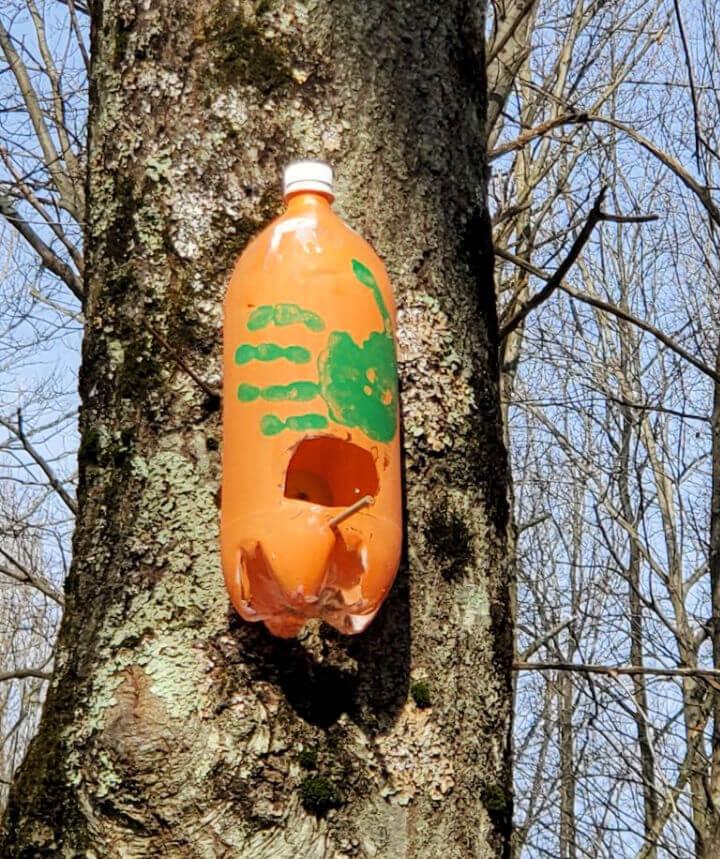 Upcycled Plastic Bottle Birdhouse