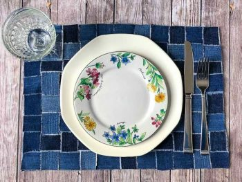 Upcycling Jeans Into Woven Placemats