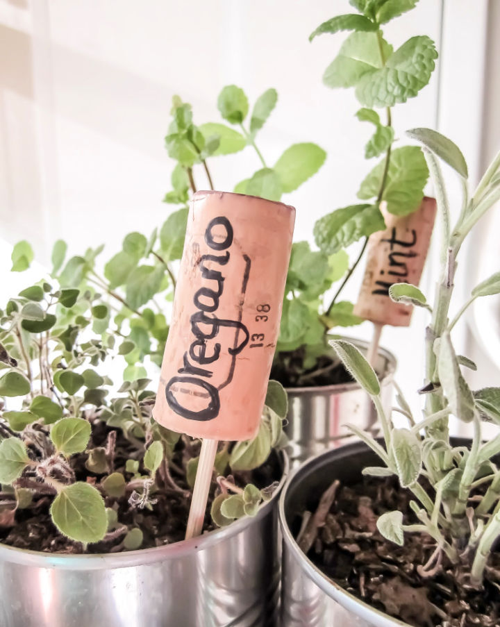Using Corks For Herb Labels