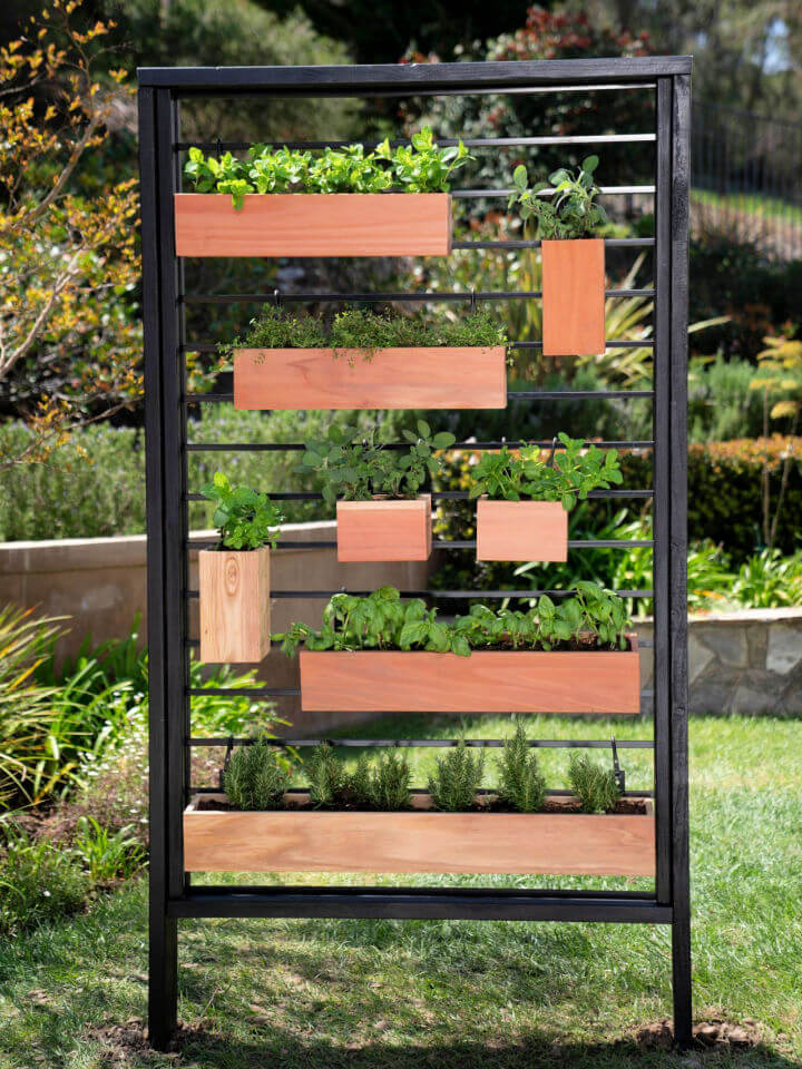 Vertical Herb Garden from Fence