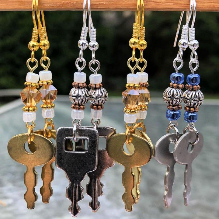 Vintage Key Earrings