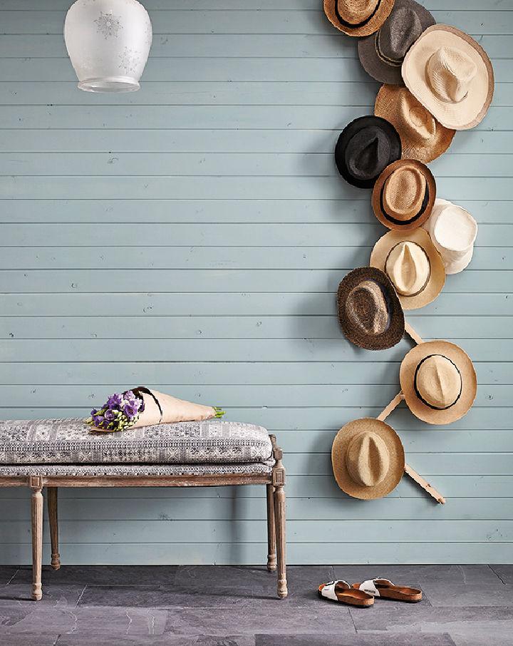 Wall Mounted Hat Rack