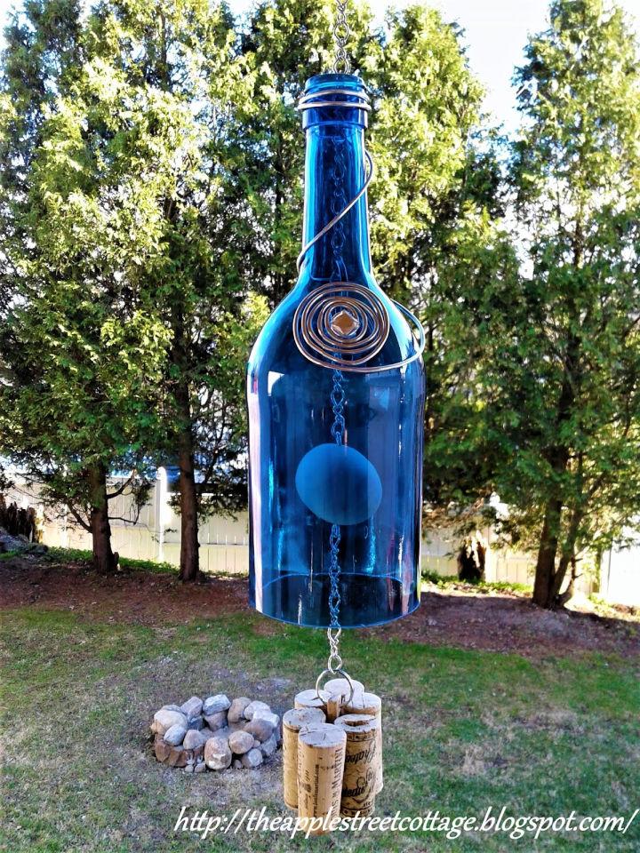 Wine Bottle Wind Chime DIY