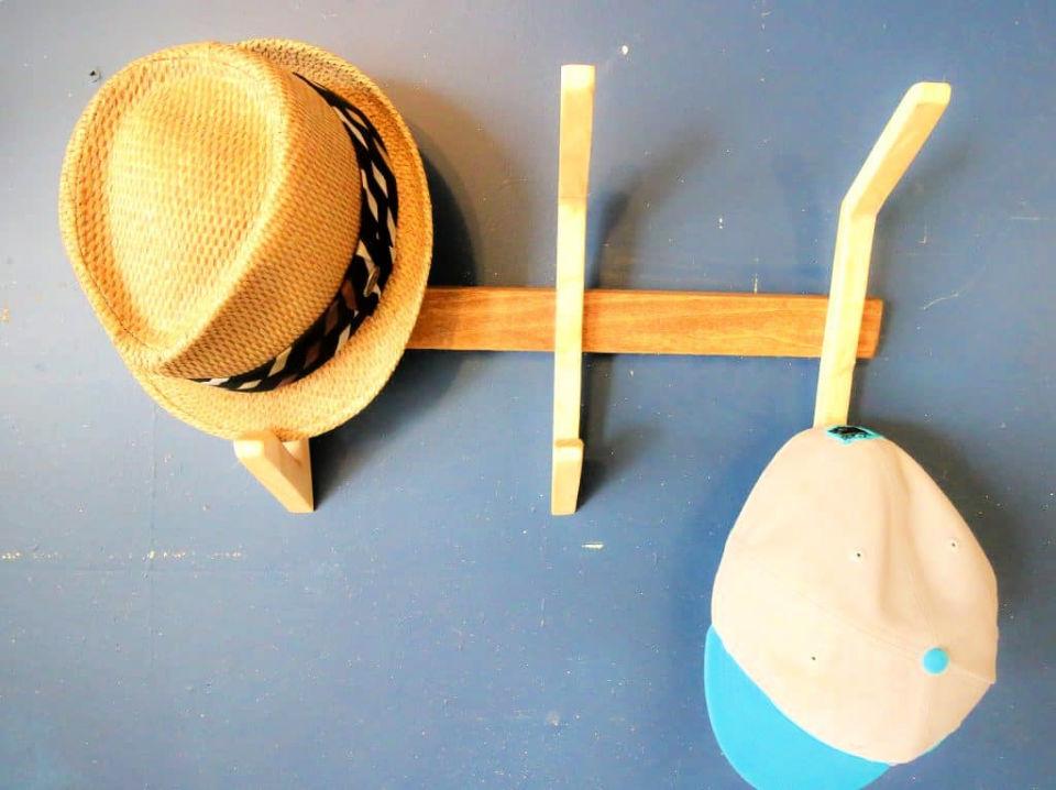 Wooden Hat Rack