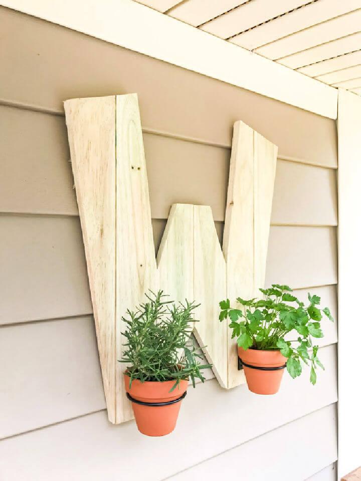 Wooden Initial Herb Garden