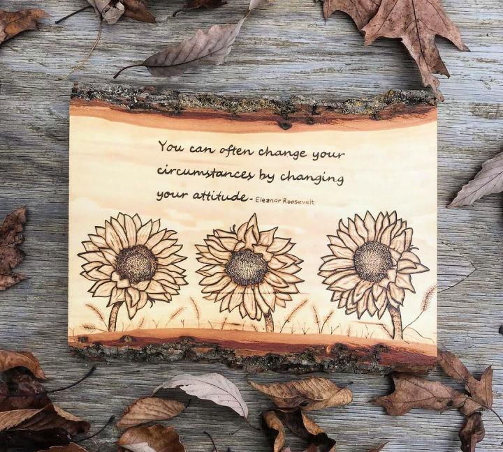 Wooden Kitchen Sunflower Decor