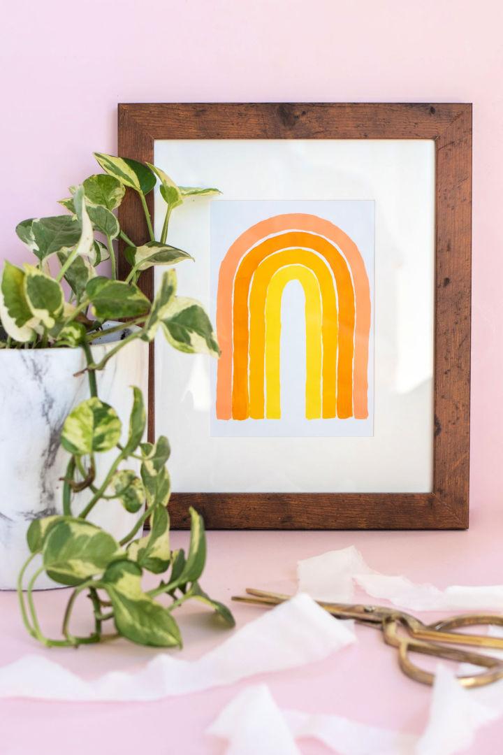 5 Minute Monochromatic Wall Art