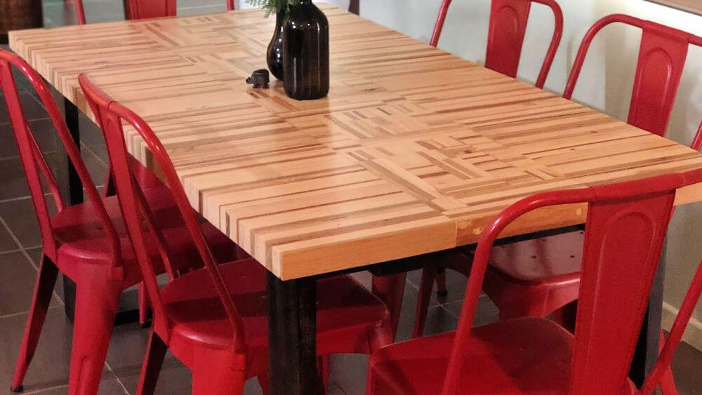 6 Seater Dining Table Out of Pallet Wood