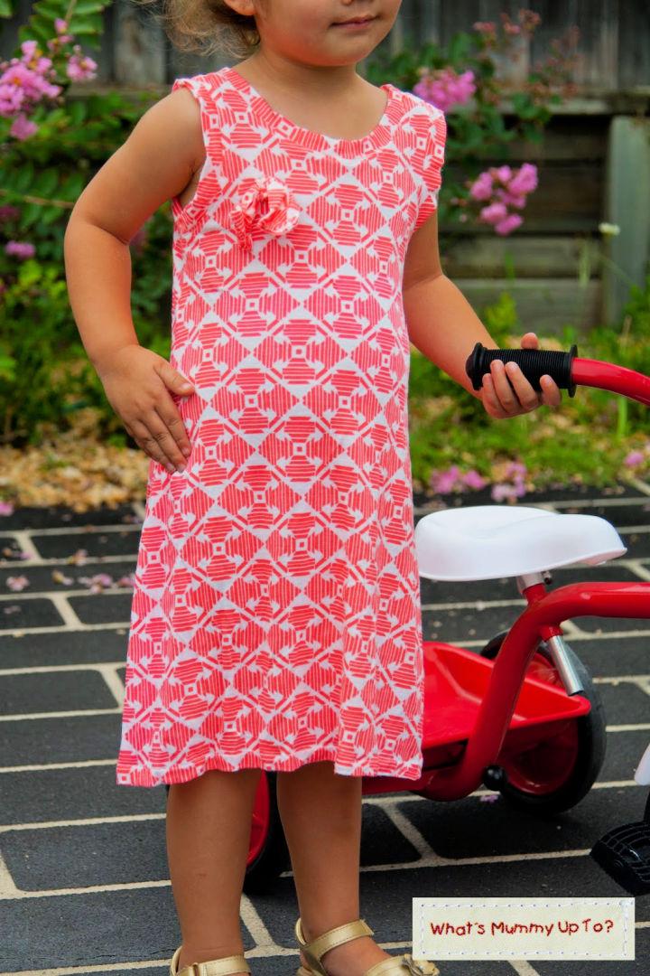A Line Knit Dress for Children