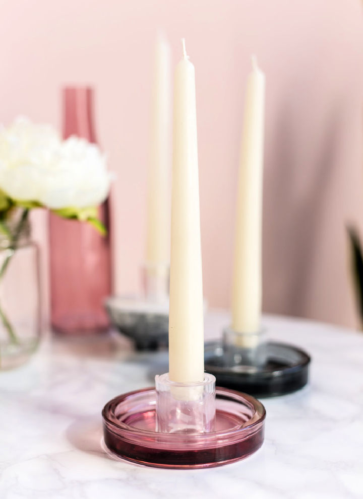 Acrylic Perspex Candle Holders