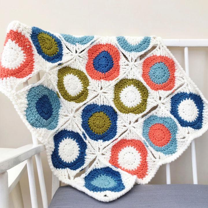 Atomic Flowers Blanket Crochet Pattern