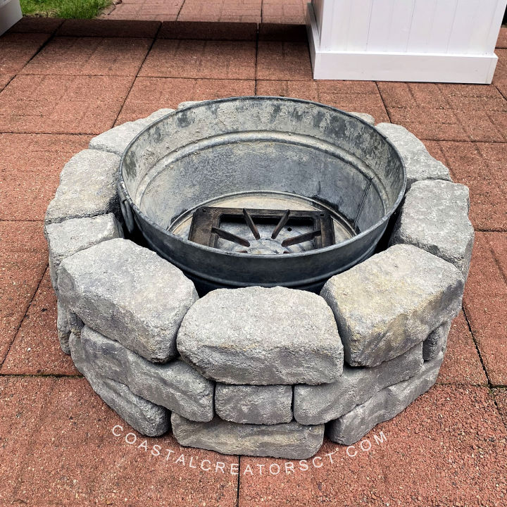Backyard Fire Pit in One Hour