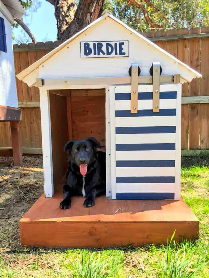 Barn Door Style Dog House