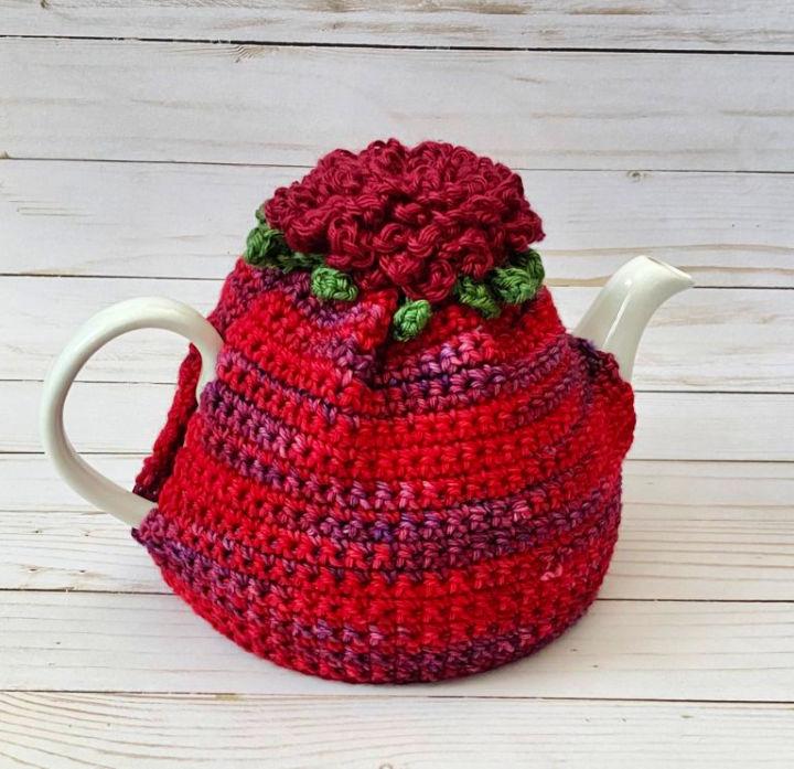 Blooming Flower Tea Cozy Crochet Pattern