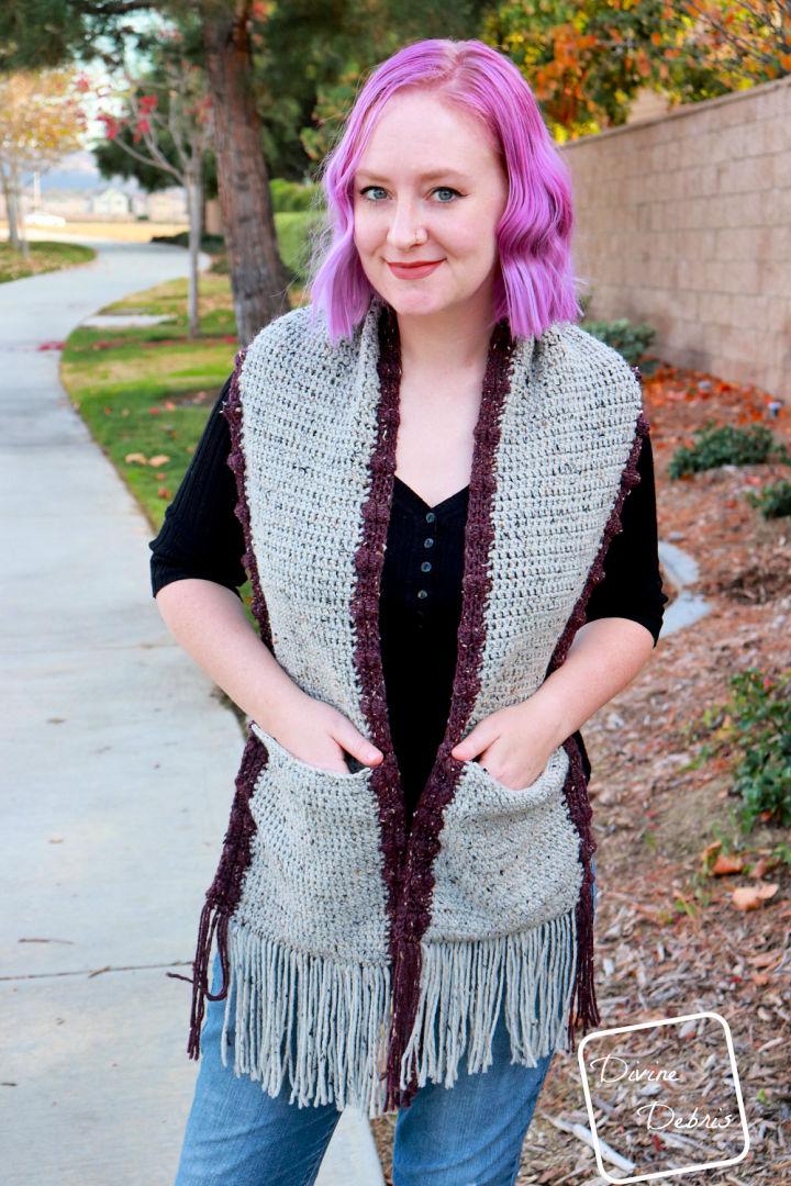 Bobbi Pocket Scarf Crochet Pattern