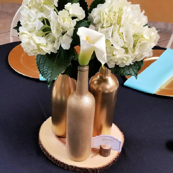 Bridal Shower Wine Bottles Centerpiece