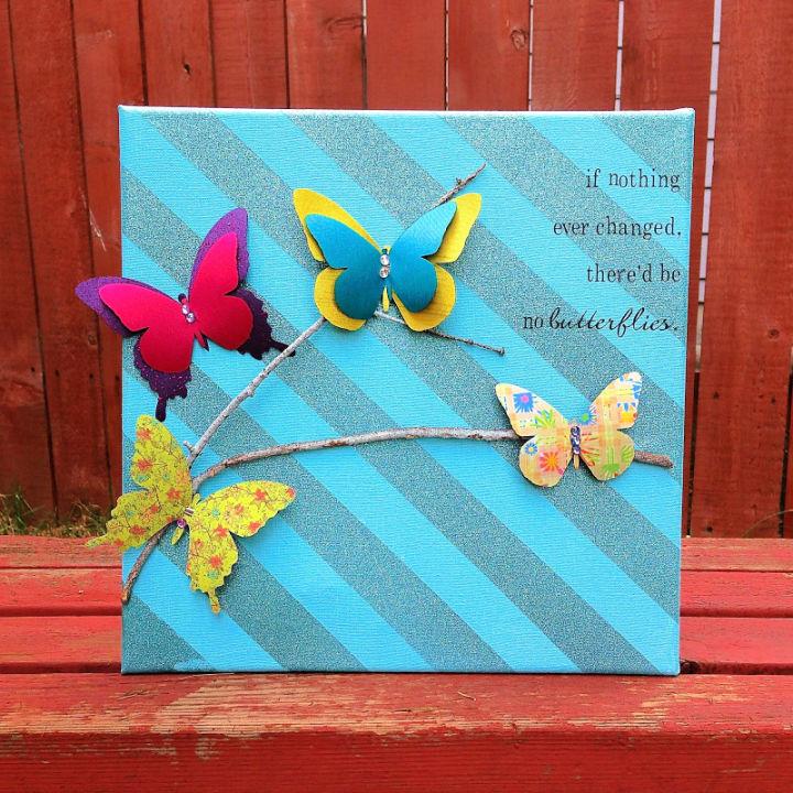 Butterfly Mixed Media Art