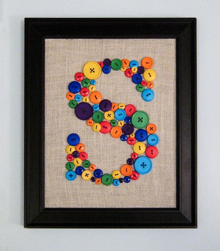 Button Monogram Wall Art