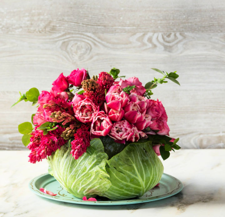 Cabbage Flower Centerpiece