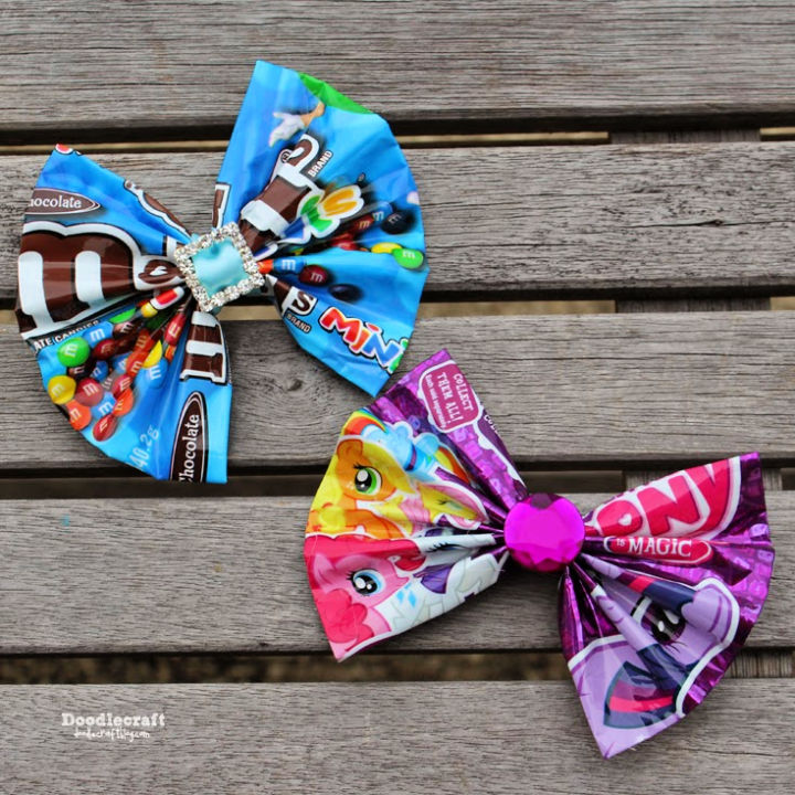 Candy Wrapper Hair Bows