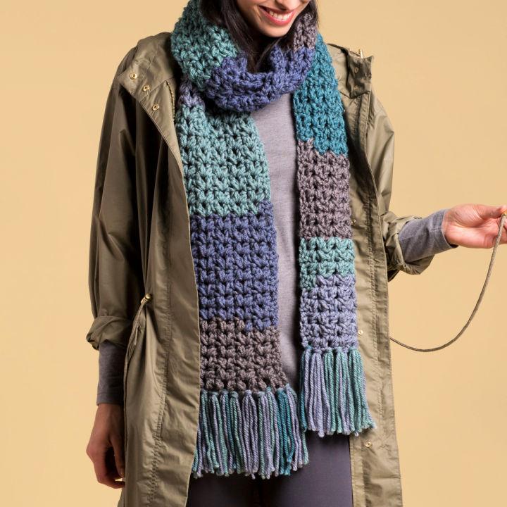 Caron Crochet Winter Scarf