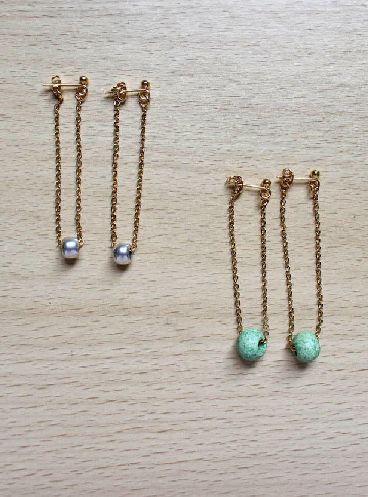 Chain Earrings for Beginner