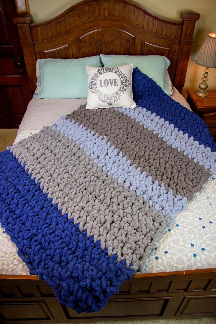 Chunky Hand Crochet Blanket