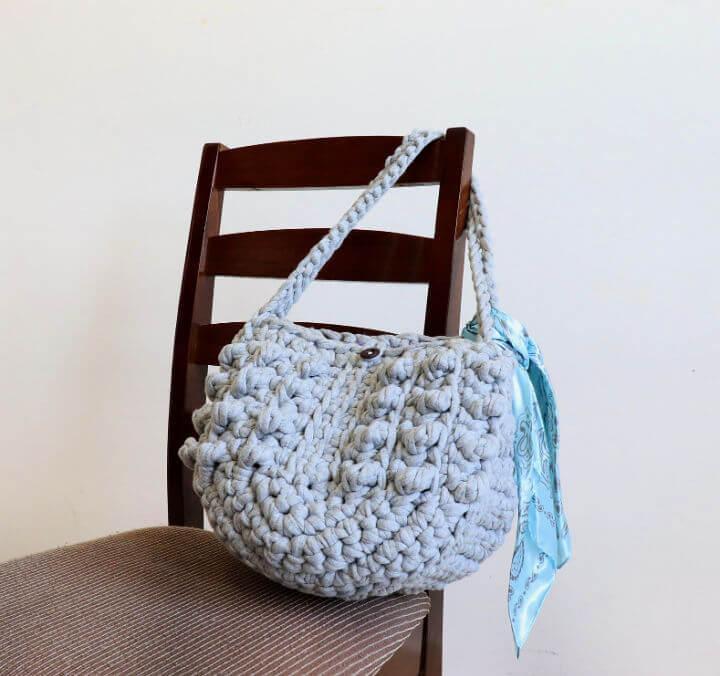 Chunky T Shirt Crochet Tote Bag