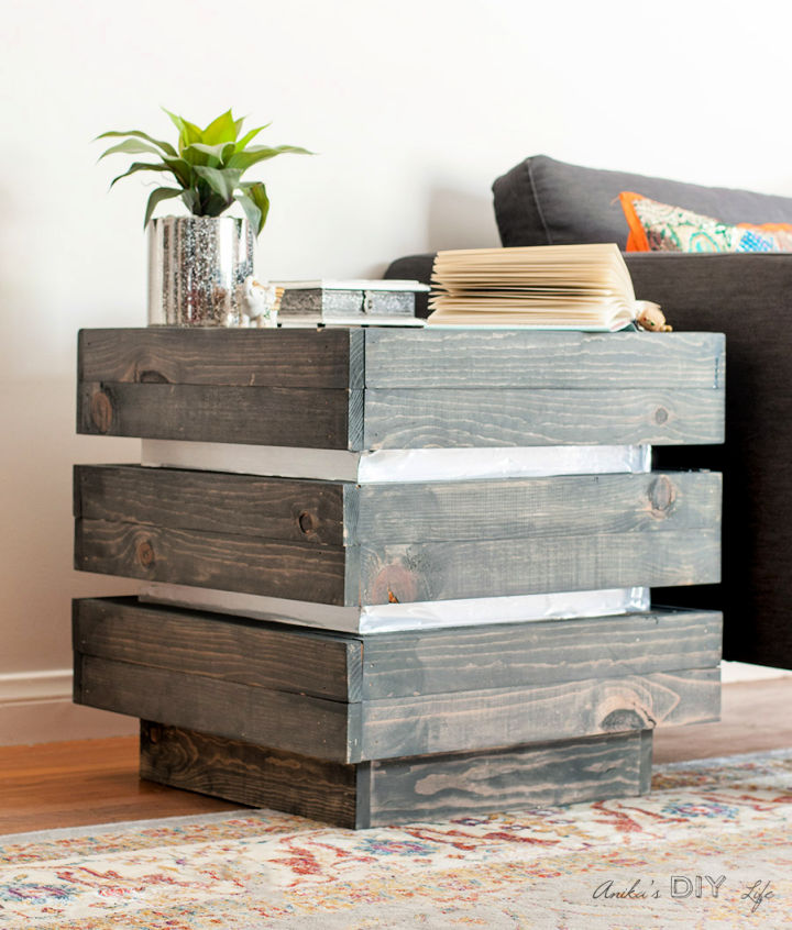 Chunky Tiered End Table