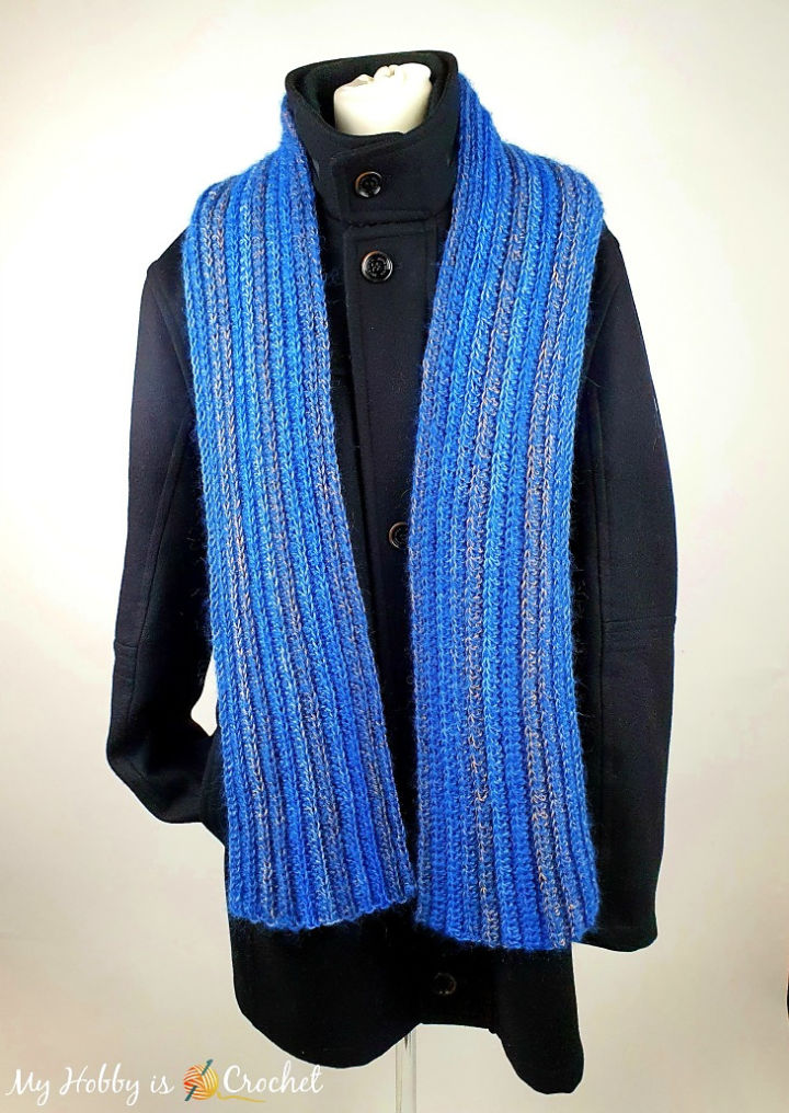 Coastline Ribbed Crochet Scarf