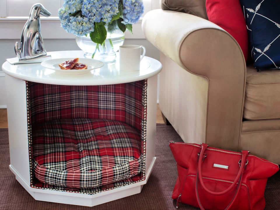 Combination Pet Bed and End Table