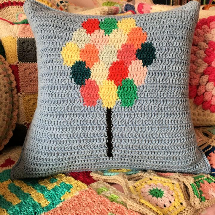 Crochet Balloons Pillow