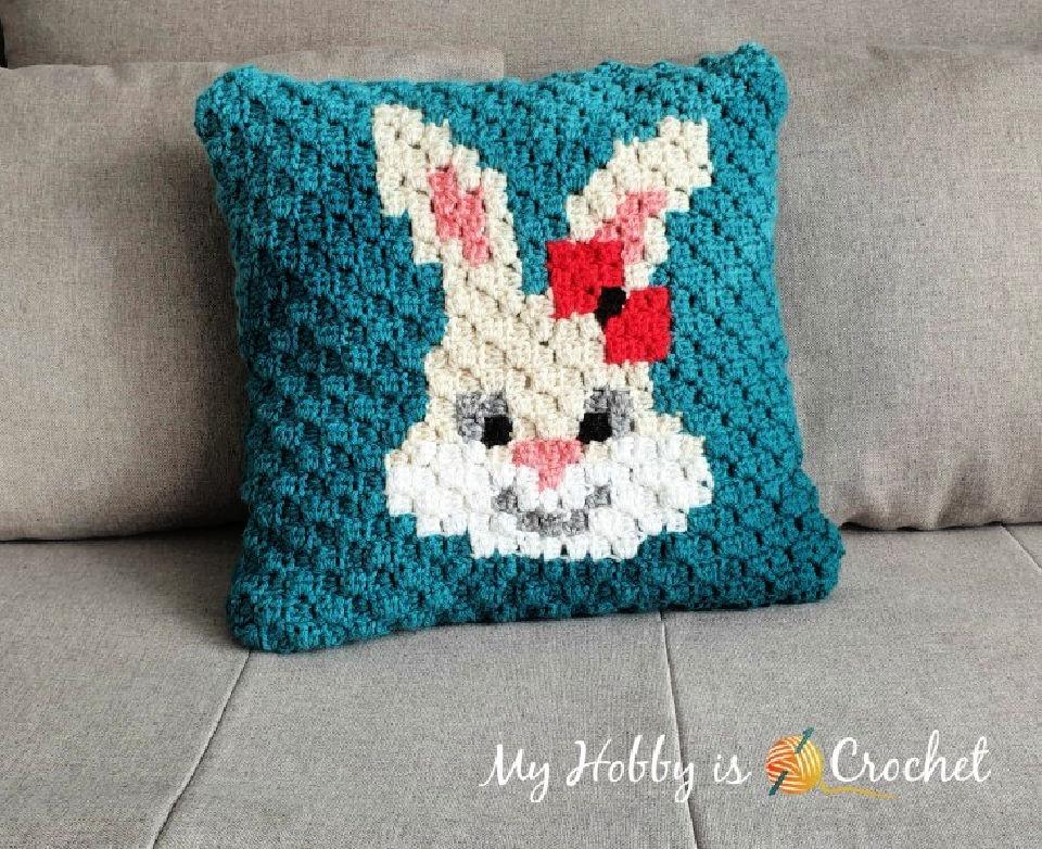 Crochet C2C Pillow Case