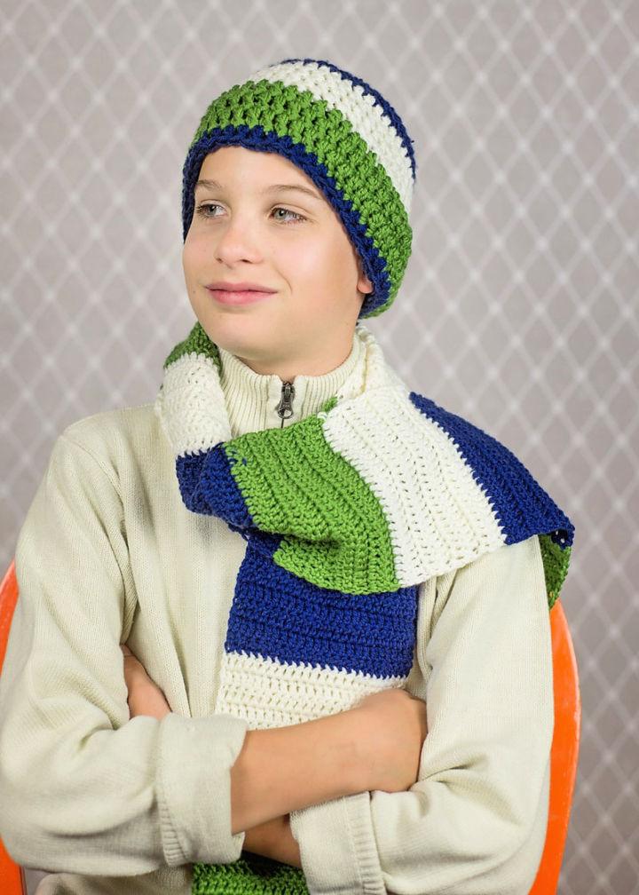 Crochet Color Blocked Scarf