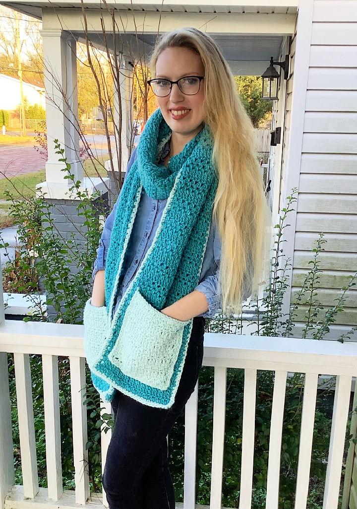 Crochet Compound Pocket Scarf