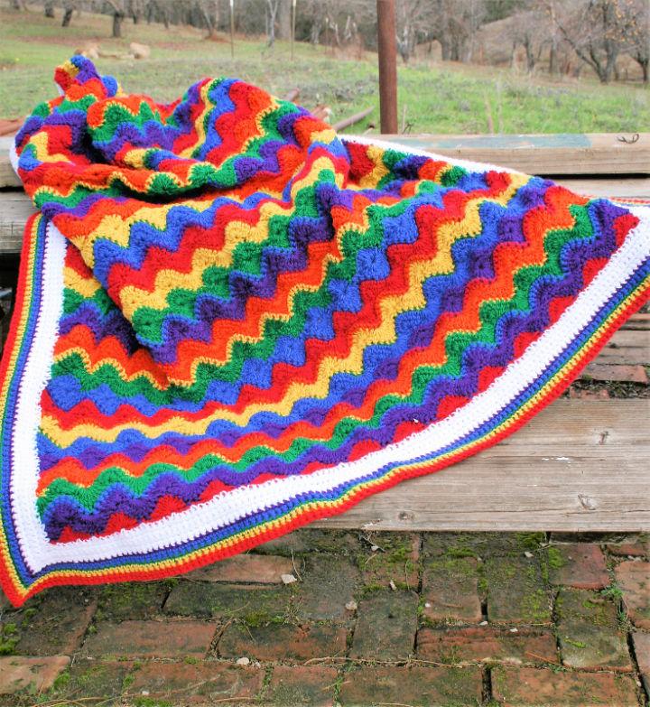 Crochet Energizing Rainbow Baby Blanket