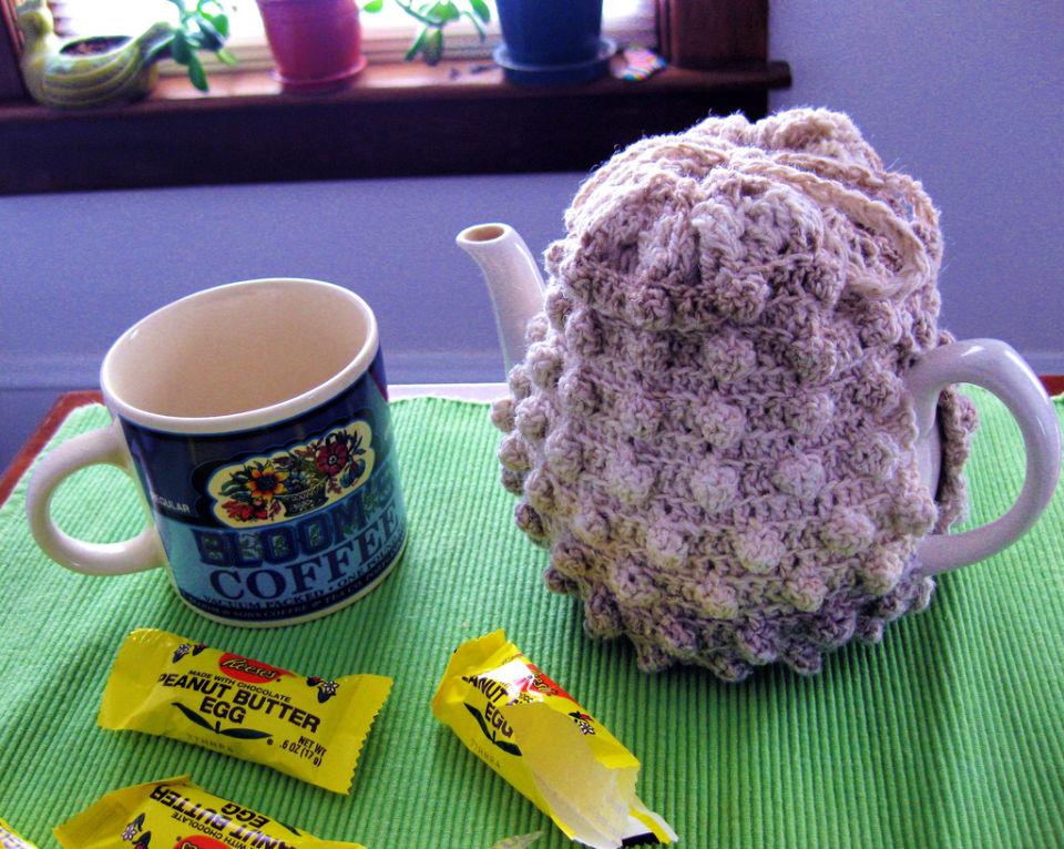 Crochet Fox Glove Tea Cozy