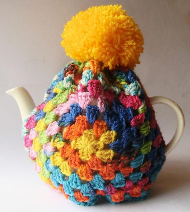 Crochet Granny Square Tea Cozy