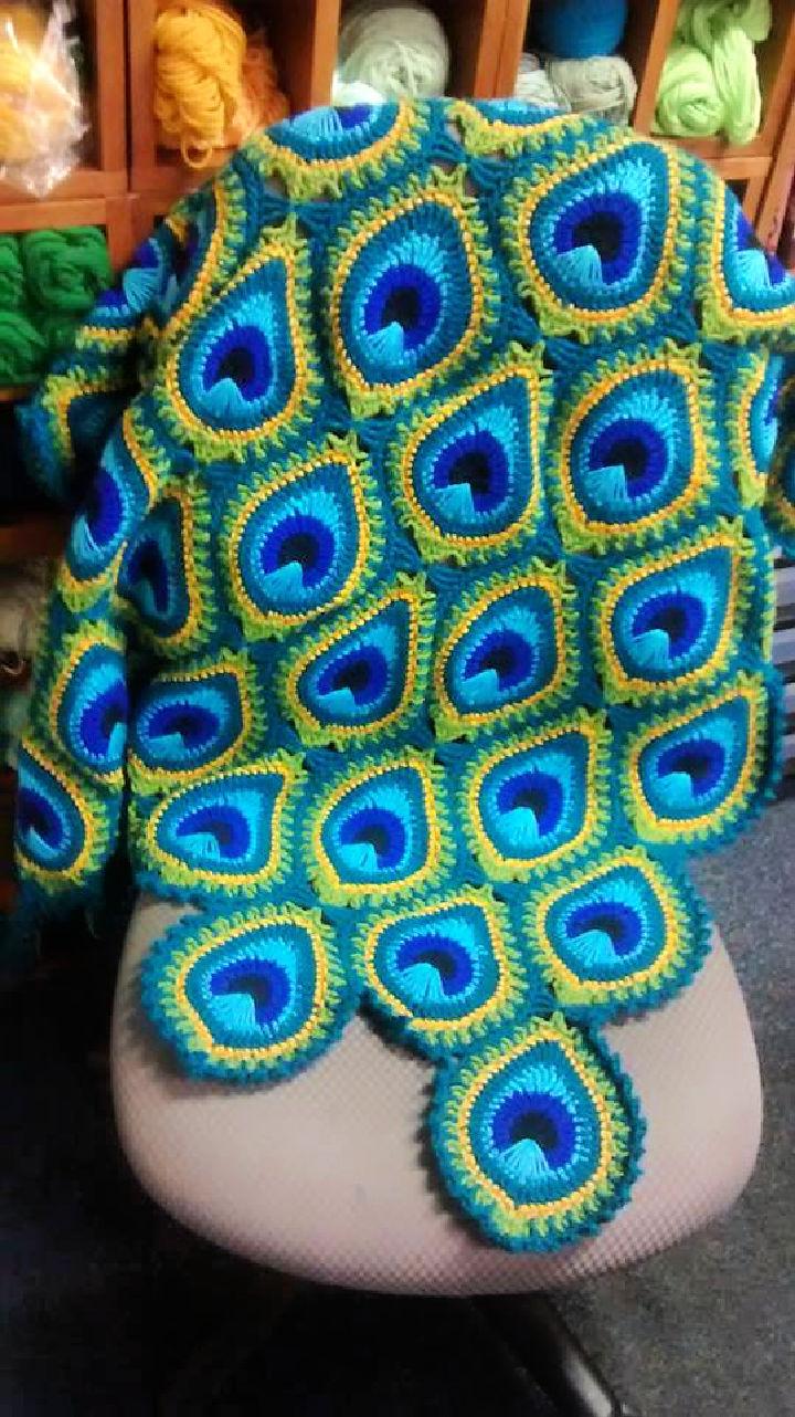 Crochet Java Peacock Afghan