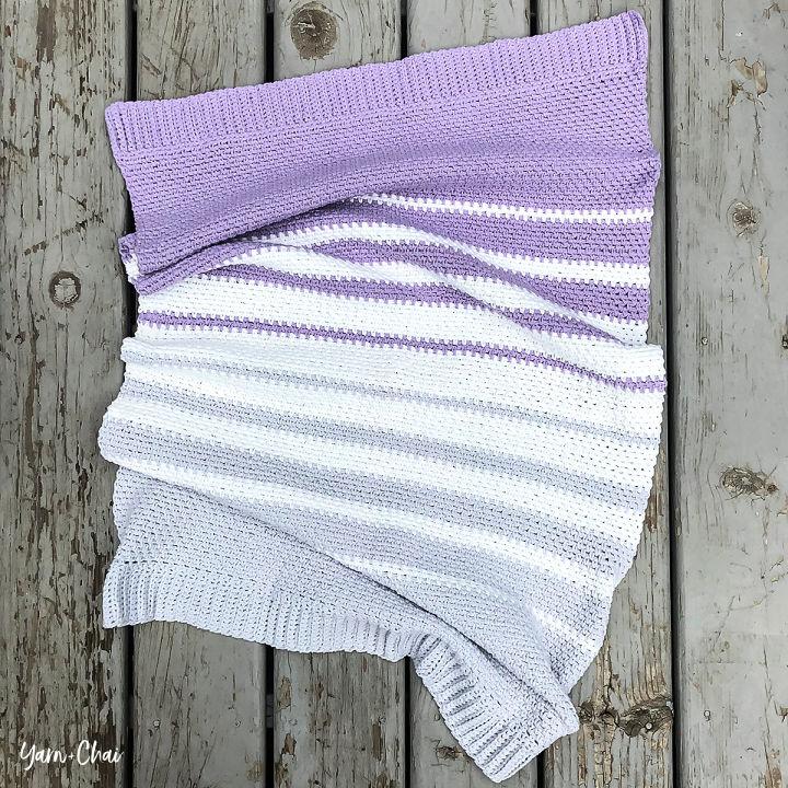 Crochet Linen Stitch Baby Blanket