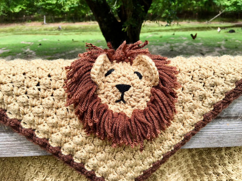 Crochet Lion Animal Blanket