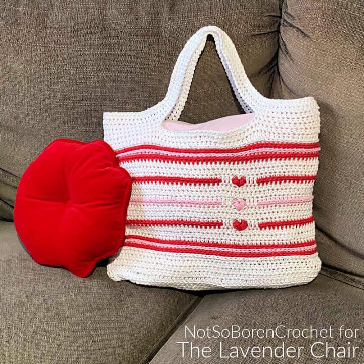 Crochet Love Me Tender Market Tote Bag