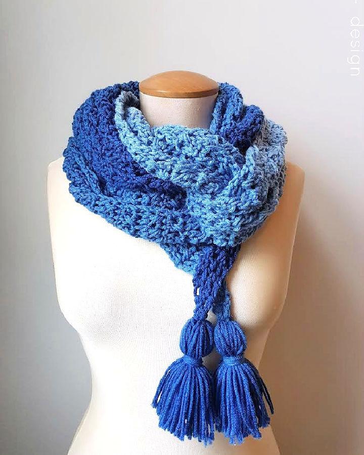 Crochet Ocean Breeze Scarf Pattern