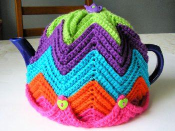 Crochet Ripple Tea Cozy