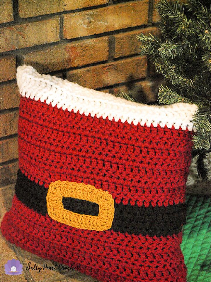 Crochet Santa Pillow Sham