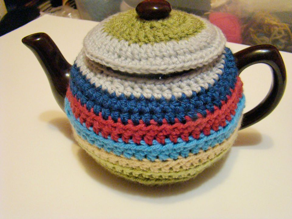 Crochet Scrap Happy Tea Cozy