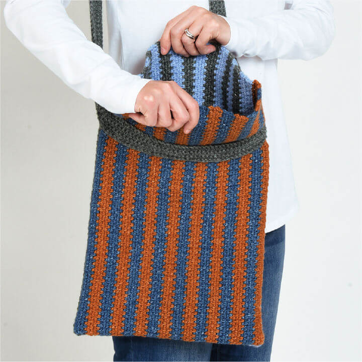 Crochet Slouchy Jean Tote Bag