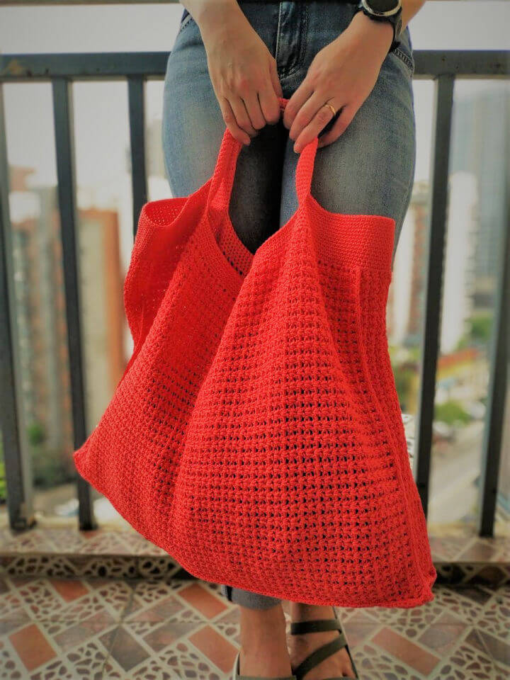 Crochet Summer Tote Bag