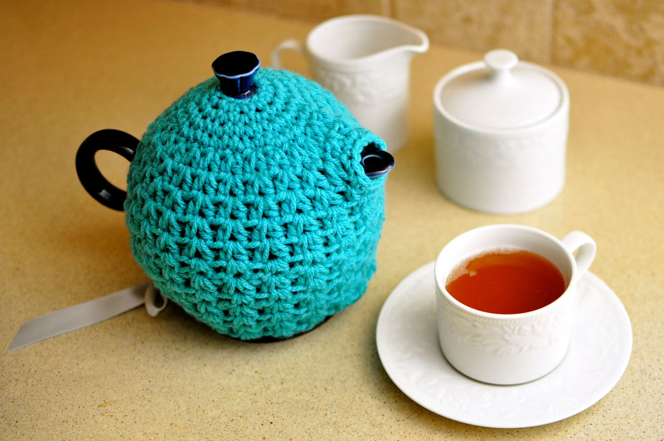 Crochet Teapot Cozy Free Pattern